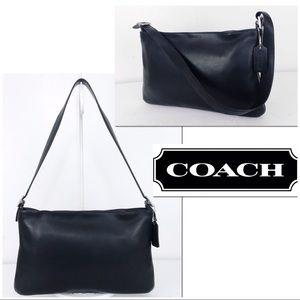 Coach VTG Legacy Black Leather Slim Shoulder Bag